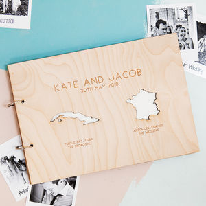 Personalised Country Destination Photo Album - albums & guest books