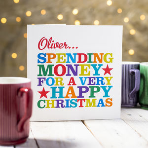 Personalised 'Spending Money' Card - cards & wrap