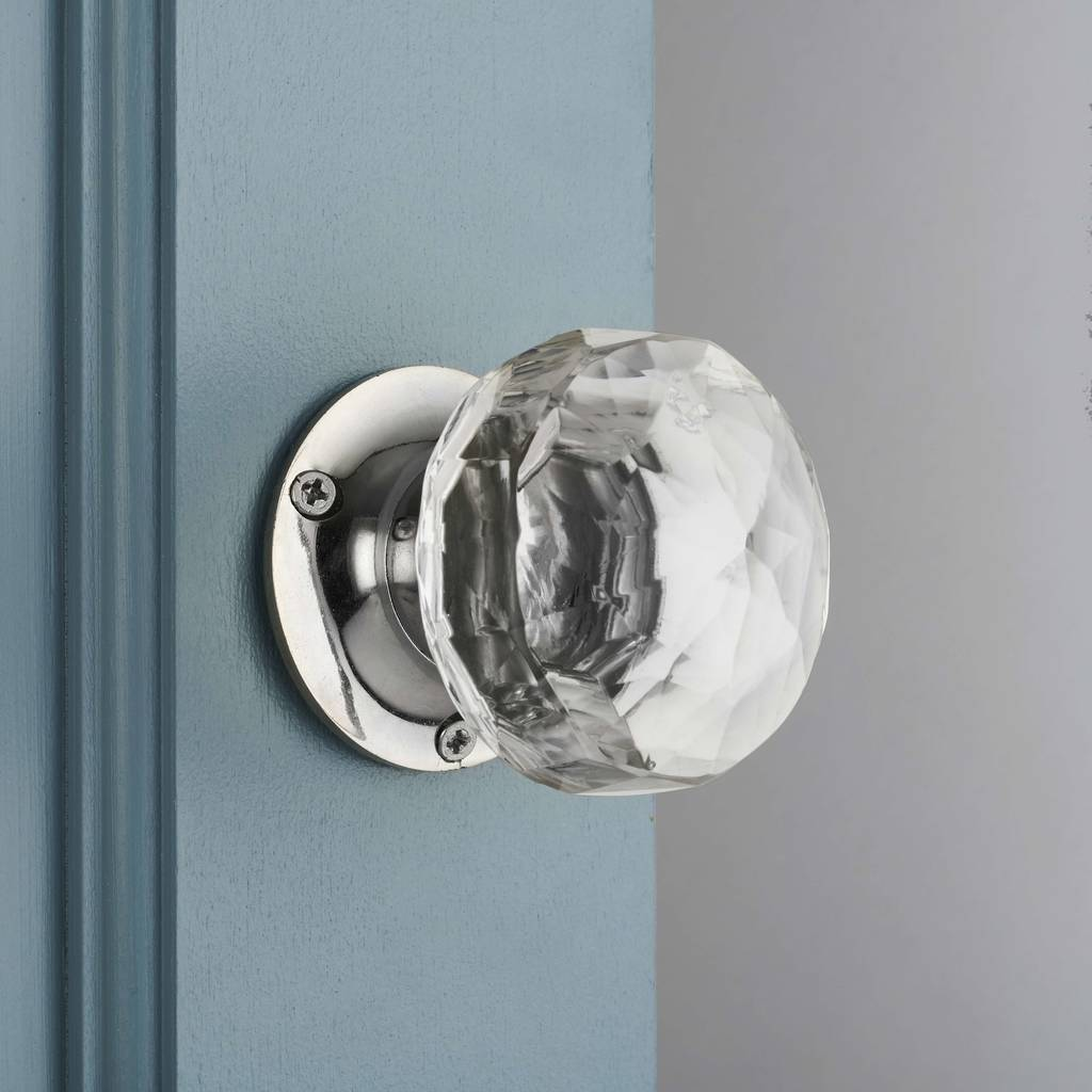 Attrayant Faceted Glass Internal Turning Mortice Door Knobs