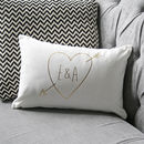 Personalised Gold Initials Cupid Cushion