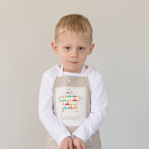 Personalised Handmade Star Apron - kitchen