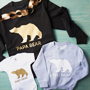 Bear Family Christmas Jumper Set - gifts for mothers
