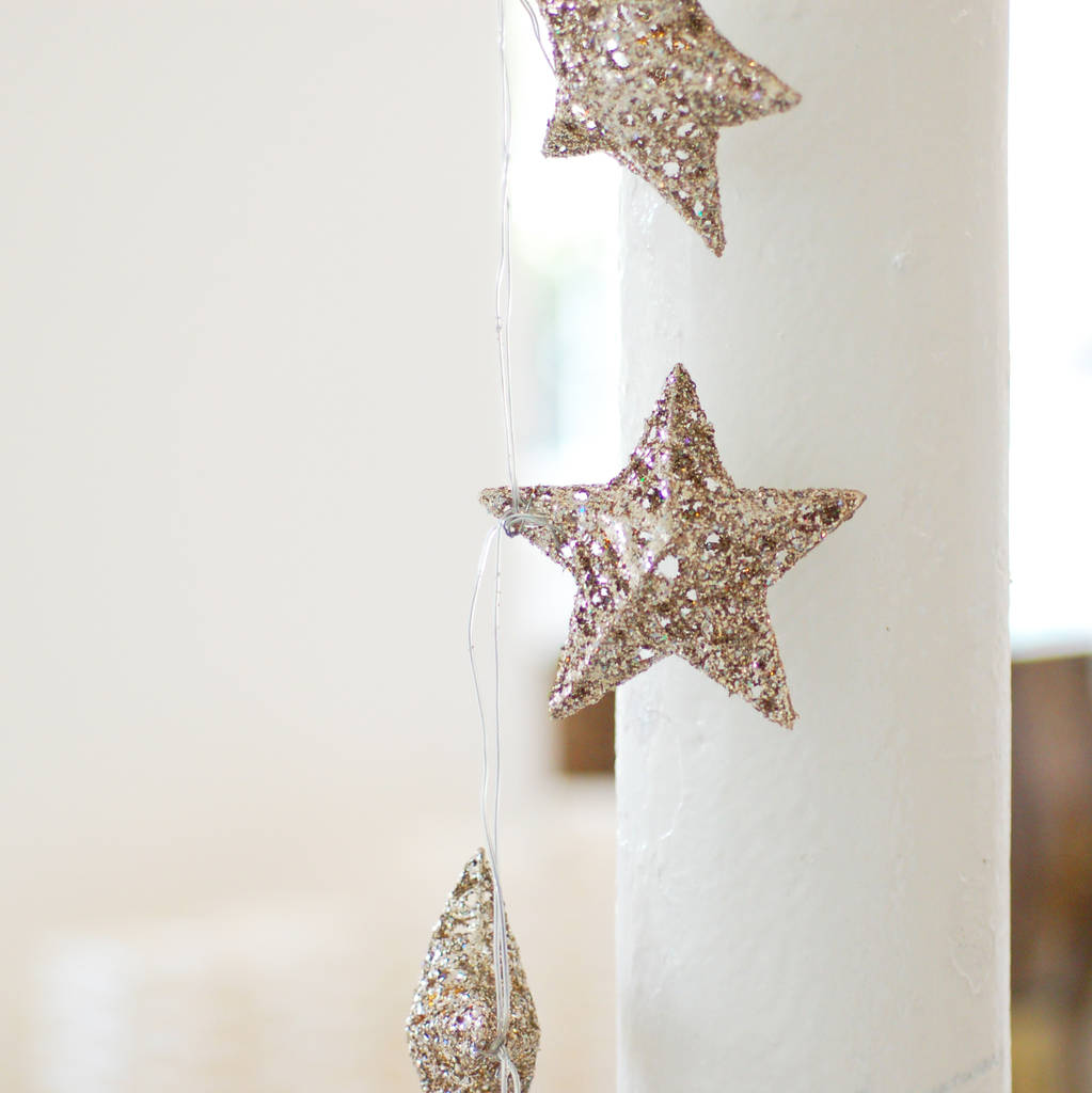 silver led star fairy christmas lights string