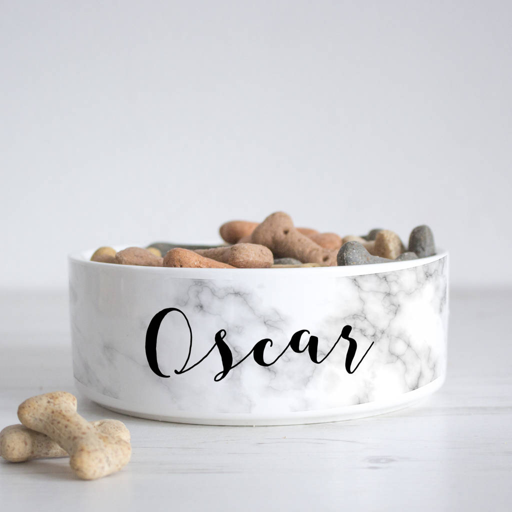Personalised Marble Pet Bowl by We Love To Create
