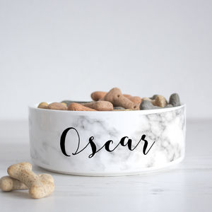 Personalised Marble Pet Bowl - food, feeding & treats