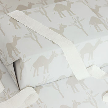 Luxury Camel Gift Wrap And Tags