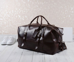 Eazo Vintage Look Leather Duffle Bag
