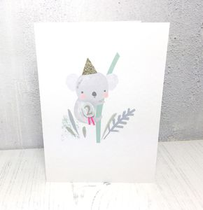 Koala 2nd Birthday Card