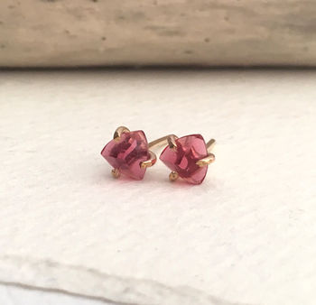 Berry Pink Quartz Stud