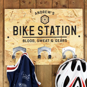 Personalised Bike Hooks Cycling Gift - bedroom