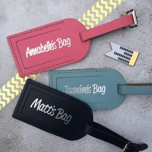 Personalised Name Luggage Tag - luggage tags