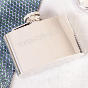 Personalised Polished Steel 4oz Hip Flask - tableware