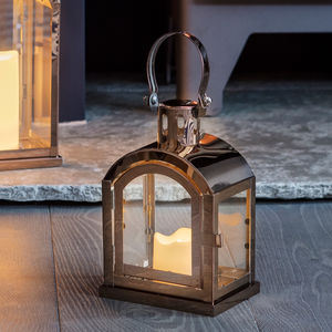 Copper Miner's LED Candle Lantern - candles & home fragrance