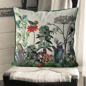 Wildflower Bloom Owl Cushion
