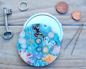 Jennifer Silk Covered Compact Mirror - compact mirrors