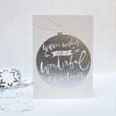 'Warm Wishes' Letterpress Christmas Card Pack