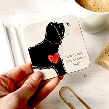 Cockerpoo Gifts Coaster For Dog Mum