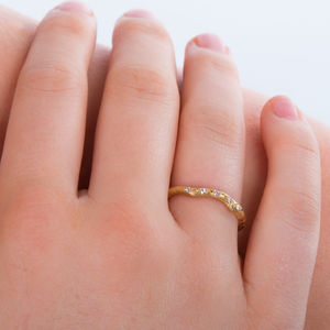 Eternity Ring In 18 Carat Gold And Diamond - eternity rings