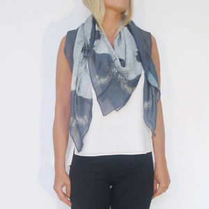 Skulls And Guns Cashmere Scarf - style-savvy