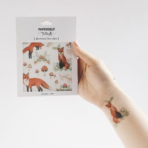 Mr Fox Temporary Tattoo