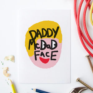 Illustrated Daddy Mc Dad Face Card