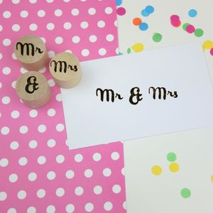 Mr And Mrs Rubber Stamp Set