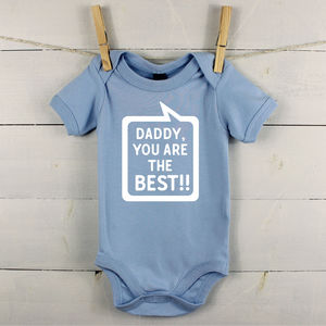 'Daddy You're The Best' Speech Bubble - new in baby & child