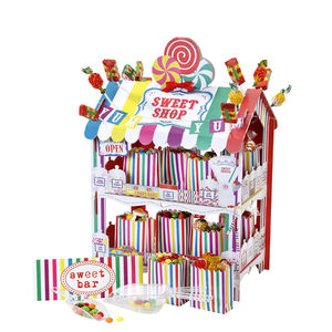Colourful Sweet Shop Stand - outdoor living