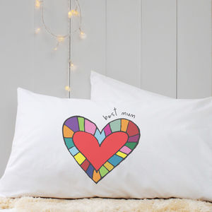 Personalised 'Heart' Pillow Case - bed, bath & table linen