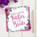 Personalised Thank You Father Of The Bride Card