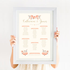 Rose Garden Wedding Table Plan