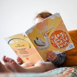 'The Day You Were Born' Personalised New Baby Book - first mother's day gifts