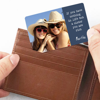 Personalised Sibling Wallet Card