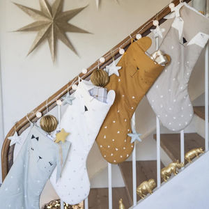 Organic Cotton Deer Christmas Stocking Large