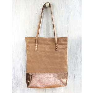 Handcrafted Leather Shopper Bag - bags
