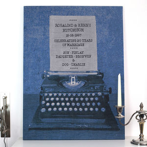 Personalised Typewriter Knitted Sign