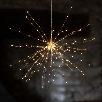 Large Copper Star Light 50cm Battery