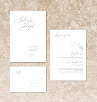 Fashionista Modern Minimalist Wedding Invitations