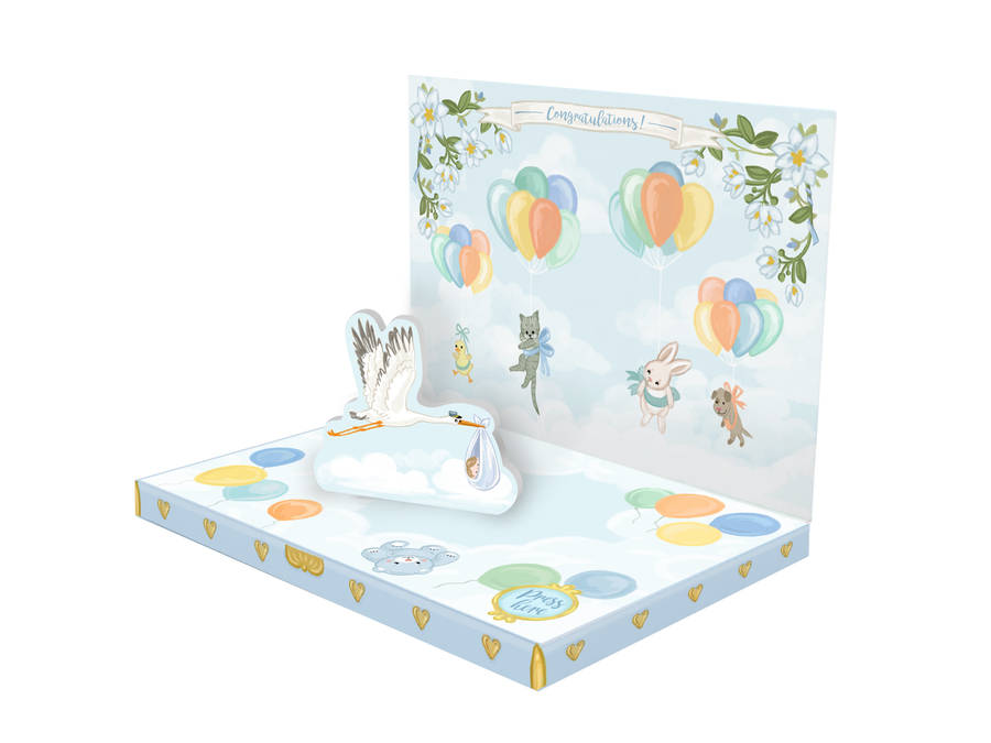 It S A Boy New Baby Music Box Card