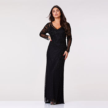 Polly Long Sleeve Hand Embellished Maxi