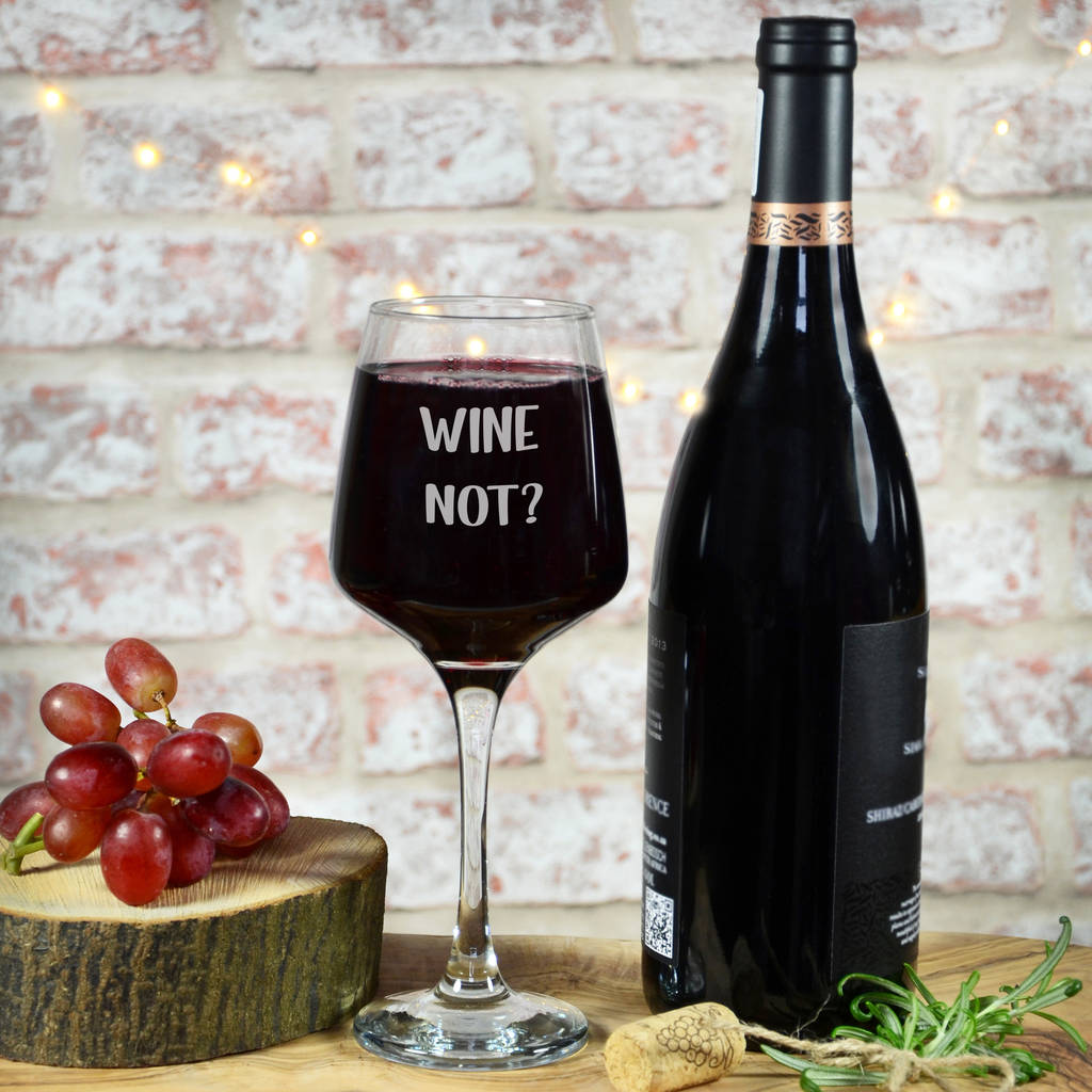 personalised wine not glass by perfect personalised gifts ...