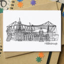 Middlesbrough Skyline Cityscape Greetings Card