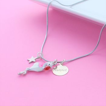Flamingo Personalised Charm Necklace