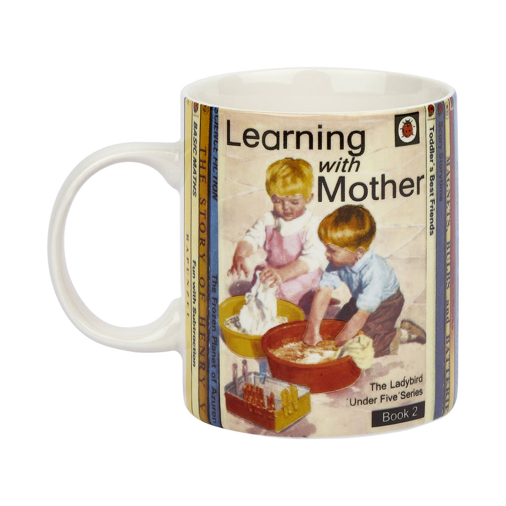 Ladybird Cover Story Fine China Gift Boxed Mug   Learning With Mother By  Designed In Colour