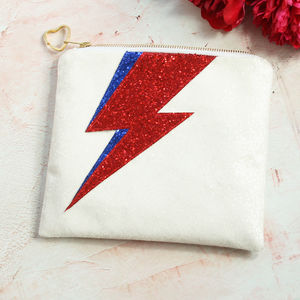 The Bowie Bride Glitter Clutch Bag