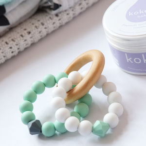 Double Diamond Teething Ring Toy - mother's day gifts