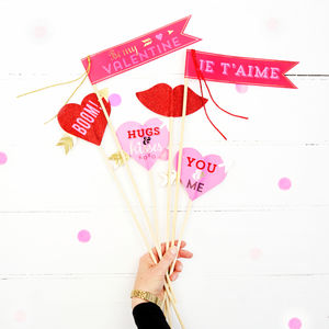 Love Themed Photo And Flower, Props And Flags - hen party ideas