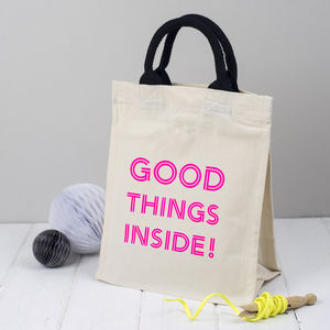 Christmas Tote Bag Good Things Inside - wrapping