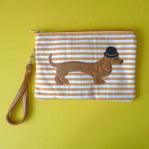Mr Sausage Dog Cosmetic Pouch / Clutch - sale