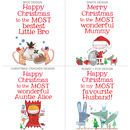Personalised Big Christmas Card Designs 5-8